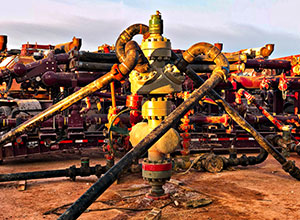 Oil Well with Frac Pump