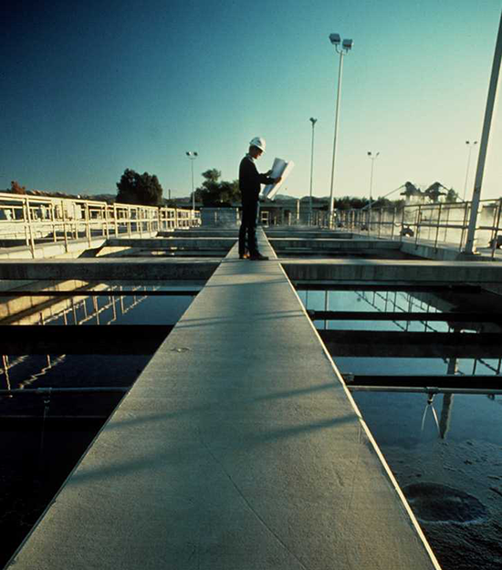 Man on clarifier